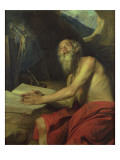 The Vision of St. Jerome Giclee Print by Juan Martin Cabezalero