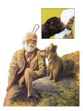 Greyfriars Bobby and Auld Jock Giclee Print by Bob Hersey