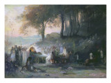 A Pagan Procession, 1896 Reproduction procédé giclée par Henri Foreau