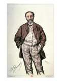 Portrait of Camille Saint-Saens Giclee Print by Charles Paul Renouard