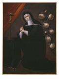 St. Rose of Lima Giclee Print by Spanish School