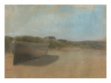 Boat on the Beach, C.1869 Giclee Print by Edgar Degas