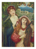 The Childhood of Saint Cecily Giclee Print by Marie Spartali Stillman