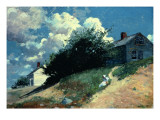 Houses on a Hill, 1879 Giclee Print by Winslow Homer