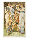 Perseus Armed by the Nymphs Giclee Print by Walter Crane