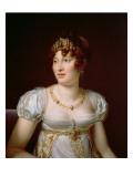 Portrait of Caroline Murat Giclee Print by Francois Pascal Simon, Baron Gerard