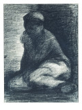 A Young Man Crouching, C.1882 Giclee Print by Georges Seurat