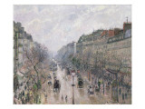 Le Boulevard Montmartre Giclee Print by Camille Pissarro