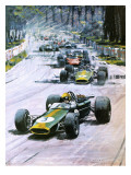1967 French Grand Prix Giclee Print by Graham Coton