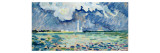 The Lighthouse at Gatteville Giclee Print by Paul Signac