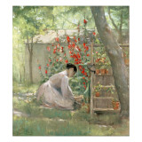 Tending the Garden Giclee Print by Robert Reid