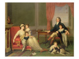 The Lambton Family in Italy Giclee Print by Augusto Nicodemo