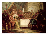 The Banquet of Cleopatra Premium Giclee Print by Francesco Fontebasso