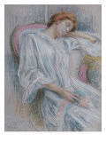 Young Woman Asleep in a Chair Giclee Print by Marie Louise Catherine Breslau