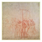 Inv. 1895 6-15-500. R. Giclee Print by  Michelangelo Buonarroti