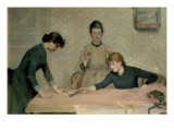 The Sewing Class Giclee Print by Alix d' Anethan