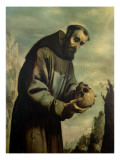 St. Francis in Meditation Giclee Print by Francisco de Zurbaran