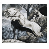 Sabre-Toothed Tigers Giclee Print by Richard Hook