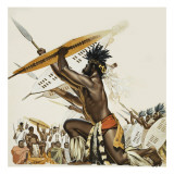 African Warriors Giclee Print by  Mcbride