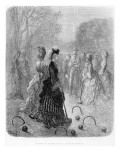 A Game of Croquet Giclee Print by Gustave Doré
