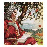 Newton Watching Apples Fall Giclee Print by English School 