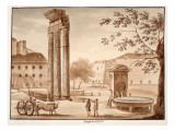 The Temple of Castor, 1833 Giclee Print by Agostino Tofanelli