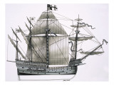 Unidentified Sailing Ship Giclee Print by John J. Arnoldson