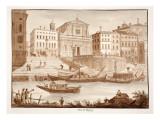 Porto Di Ripetta, 1833 Giclee Print by Agostino Tofanelli
