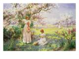 Alfred Augustus Glendenning - Spring: Picking Flowers, 1898 - Giclee Baskı