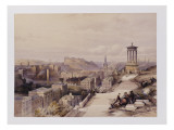 A View of Edinburgh Giclee Print by David Roberts