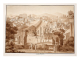 Forum Romanum, 1833 Giclee Print by Agostino Tofanelli