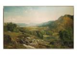 Minding the Flock, C.1867 Premium Giclee Print by  Moran
