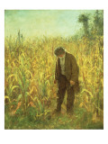 Man in a Cornfield Reproduction proc&#233;d&#233; gicl&#233;e par Eastman Johnson