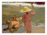 Children on the Seashore, 1903 Giclee Print by Joaquin Sorolla y Bastida