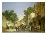 Arab Street Scene, 1872 Premium Giclee Print by Honore Boze