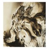 Pluto Seizes Persephone Giclee Print by Frank Marsden Lea