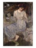 The Necklace, C.1909 Giclee Print by John William Waterhouse
