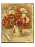 Still Life with Anemones Giclee Print by Pierre-Auguste Renoir