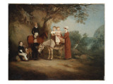 The Marriott Family, 1815 Giclee Print by John E. Ferneley