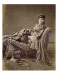 A Turkish Lady Seated, C.1880 Premium Giclee Print by Jean-Pascal Sebah