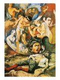 The Death of Caravaggio Giclee Print by Alberto Salinas