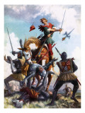 Robin Hood Fighting Giclee Print by John Millar Watt