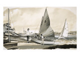 Children Learning to Sail Giclee Print by  English School