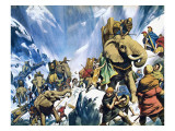 Hannibal Crossing the Alps Giclee Print by Mcbride 
