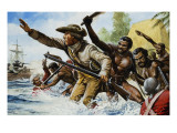 Death of Captain Cook Giclee Print by Oliver Frey