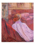 Woman Seated on a Red Settee Lámina giclée por Henri de Toulouse-Lautrec