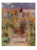 The Garden at Vetheuil, 1881 Giclee Print by Claude Monet