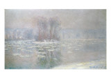 Ice at Bennecourt, 1898 Giclee Print by Claude Monet