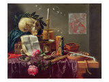 A Vanitas Still Life Reproduction proc&#233;d&#233; gicl&#233;e par Peeter Sion