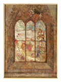 The Stained Glass Window Premium Giclee Print by Odilon Redon